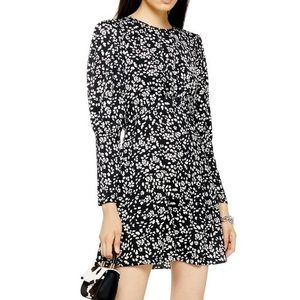 Austin Long Sleeve Open Back Floral Minidress